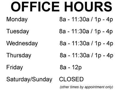 Ahlberg Audiology Office Hours